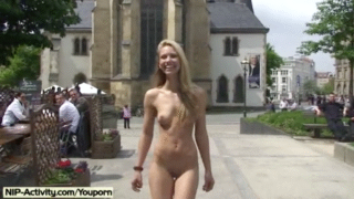 Teen Flaunts Her Naked Body In Public Streets